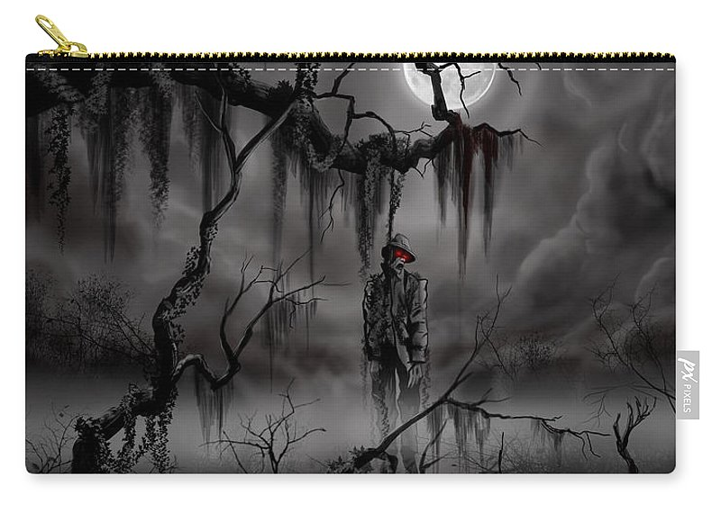 Nightmare Carry-all Pouch featuring the painting The Hangman by James Christopher Hill