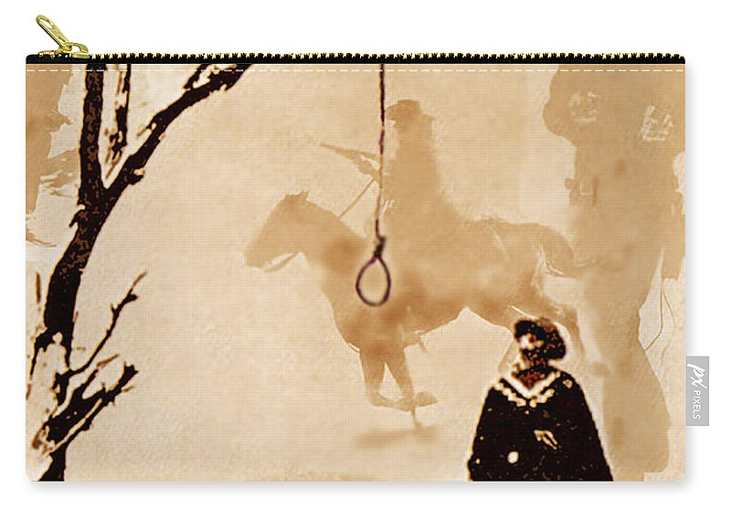Clint Eastwood Carry-all Pouch featuring the digital art The Hangman's Tree by Seth Weaver