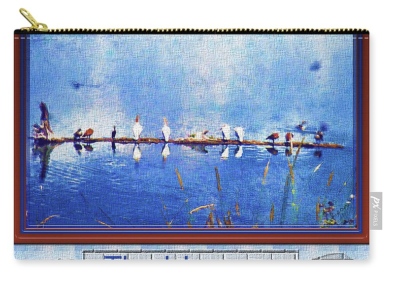 Birds Carry-all Pouch featuring the photograph The Hangout by Susan Kinney