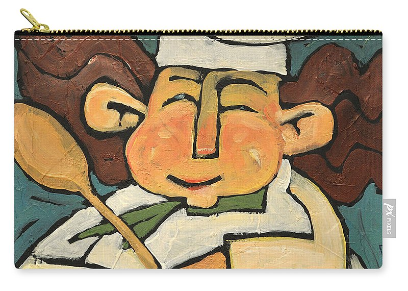 Chef Carry-all Pouch featuring the painting The Happy Chef by Tim Nyberg