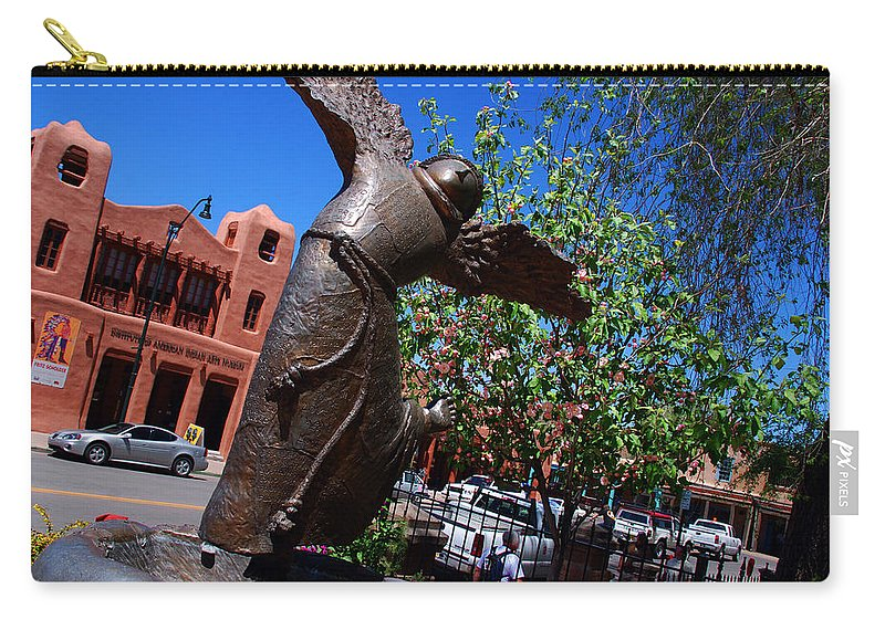 Sculpture Of San Franciskus Carry-all Pouch featuring the photograph The Happy San Francis by Susanne Van Hulst