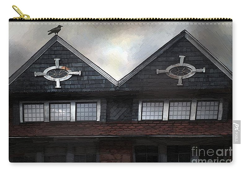 Clouds Carry-all Pouch featuring the painting The Harbinger by RC DeWinter
