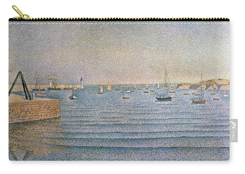The Harbour At Portrieux Carry-all Pouch featuring the painting The Harbour At Portrieux by Paul Signac