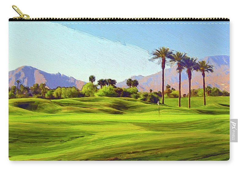 Golf Carry-all Pouch featuring the painting The Hard Way Home by Dominic Piperata