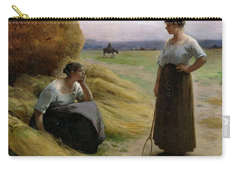 Lerolle Carry-all Pouch featuring the painting The Harvesters by Henri Lerolle