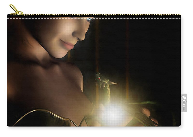 Hatchling Carry-all Pouch featuring the digital art The Hatchling by John Edwards