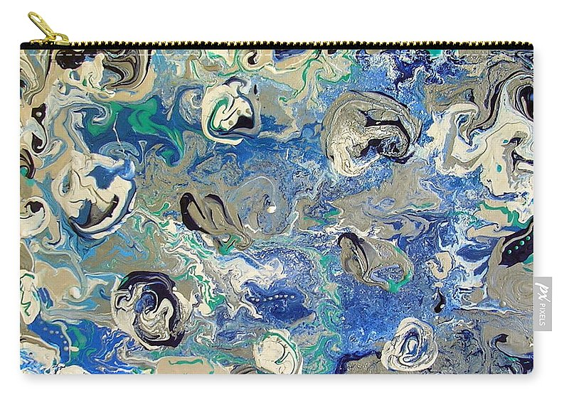 Haunting Carry-all Pouch featuring the painting The Haunting by Dawn Hough Sebaugh