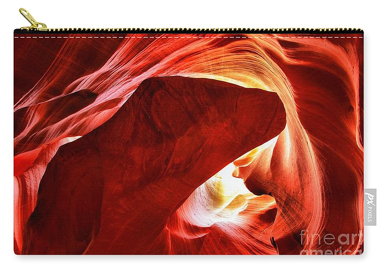 Heart Of The Canyon Carry-all Pouch featuring the photograph The Heart And The Dog by Adam Jewell