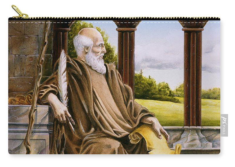 Wise Man Carry-all Pouch featuring the painting The Hermit Nascien by Melissa A Benson