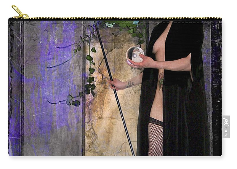 Divine Carry-all Pouch featuring the digital art The Hermit by Tammy Wetzel