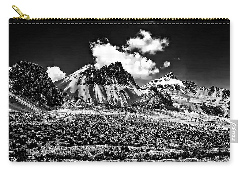 Peru Carry-all Pouch featuring the photograph The High Andes Monochrome by Steve Harrington