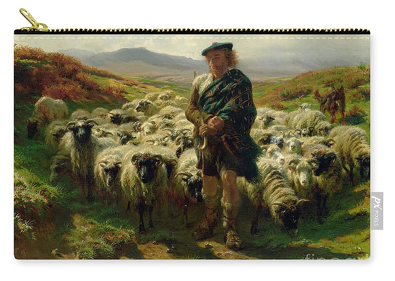 The Carry-all Pouch featuring the painting The Highland Shepherd by Rosa Bonheur