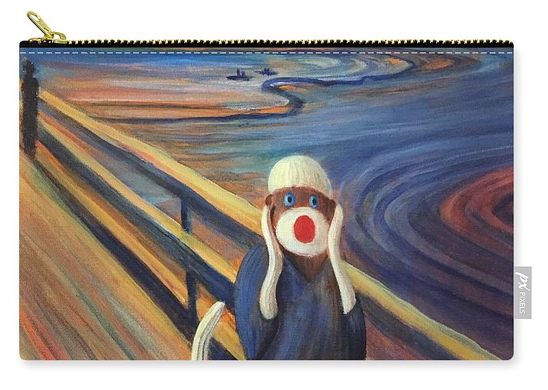 The Scream Carry-all Pouch featuring the painting The Holler by Randy Burns