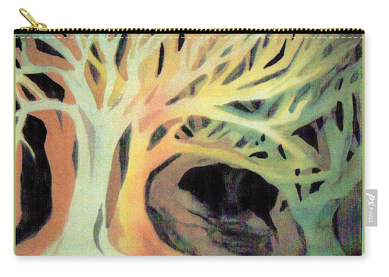 Trees Carry-all Pouch featuring the painting The Hollow by Charme Curtin