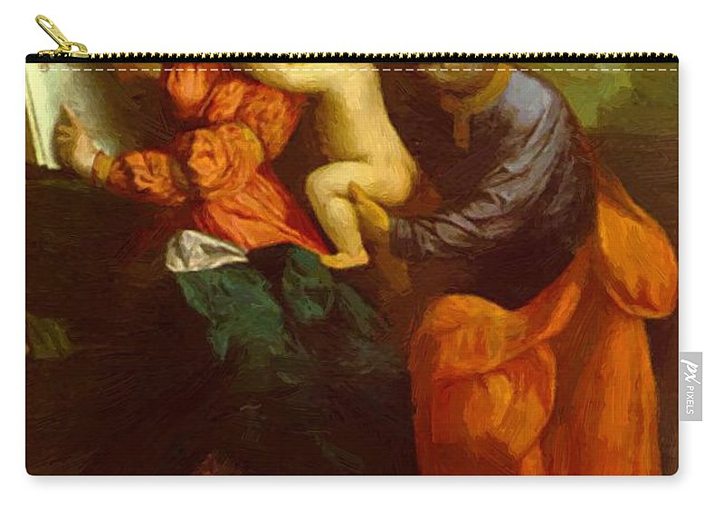 The Carry-all Pouch featuring the painting The Holy Family by Dossi Dosso