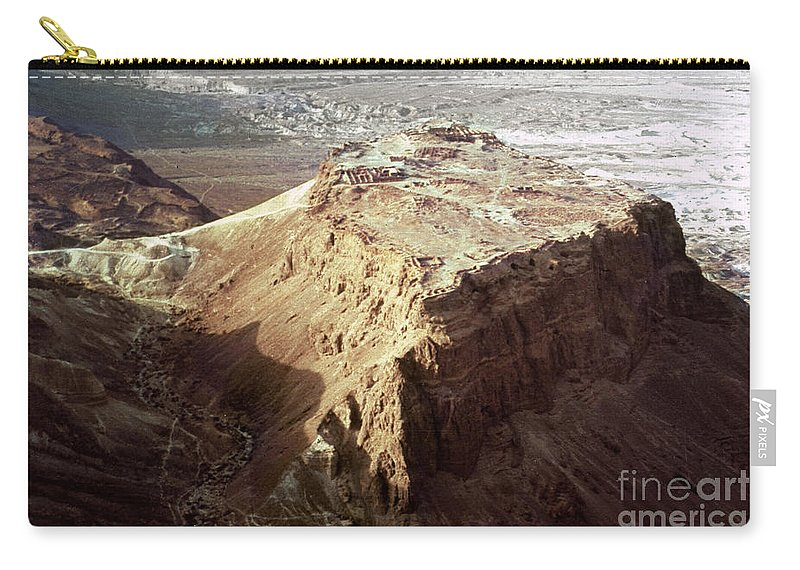 20th Century Carry-all Pouch featuring the photograph The Holy Land: Masada by Granger