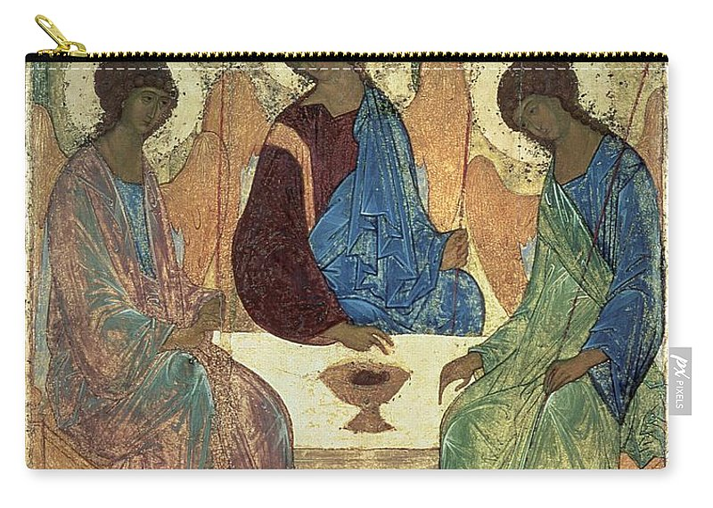 The Carry-all Pouch featuring the painting The Holy Trinity by Andrei Rublev