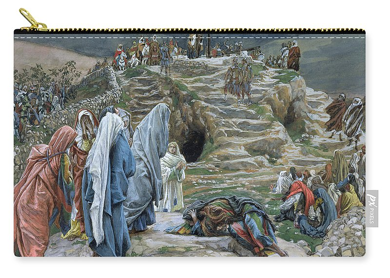Tissot Carry-all Pouch featuring the painting The Holy Women Stand Far Off Beholding What Is Done by James Jacques Joseph Tissot