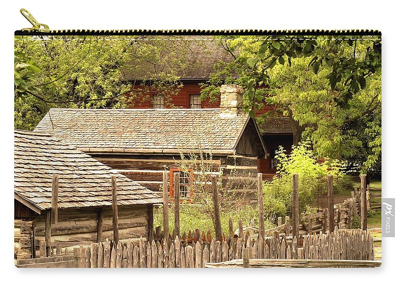 Log Cabins Carry-all Pouch featuring the photograph The Homestead by Ian MacDonald