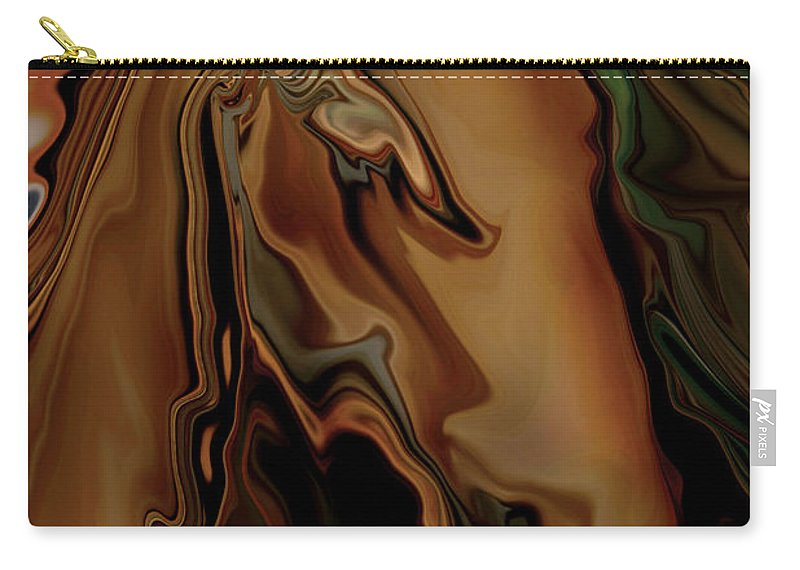 Animal Carry-all Pouch featuring the digital art The Horse by Rabi Khan
