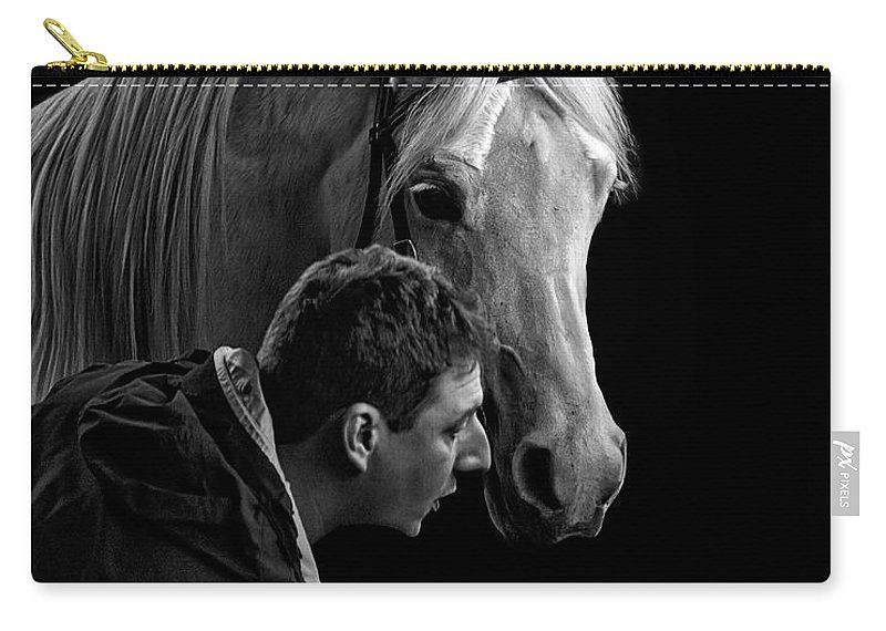 The Horse Whisperer Extraordinaire Carry-all Pouch featuring the photograph The Horse Whisperer Extraordinaire by Wes and Dotty Weber