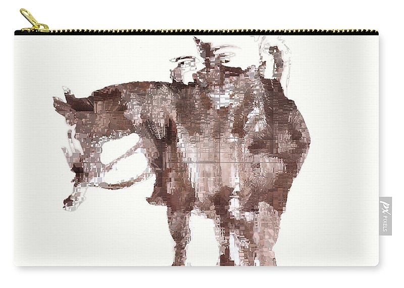 Horseman Carry-all Pouch featuring the digital art The Horseman by Seth Weaver