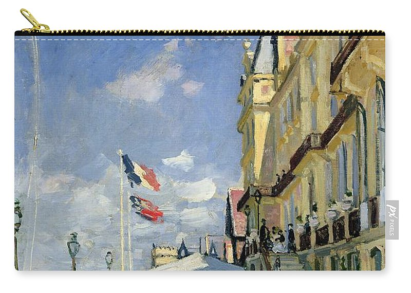 Monet Carry-all Pouch featuring the painting The Hotel Des Roches Noires At Trouville by Claude Monet