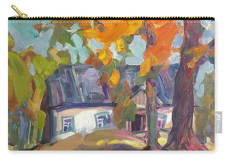 Oil Carry-all Pouch featuring the painting The House In Chervonka Village by Sergey Ignatenko
