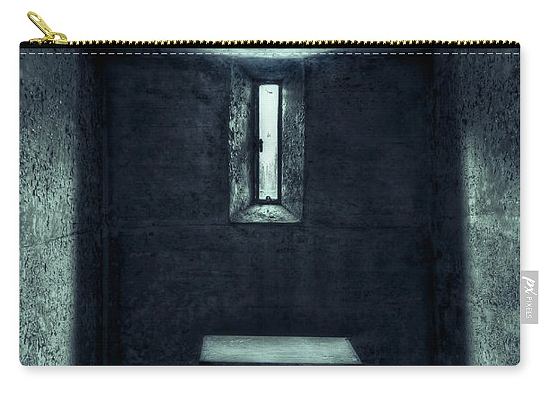 Cell Carry-all Pouch featuring the photograph The House Of A Locked Mind by Evelina Kremsdorf