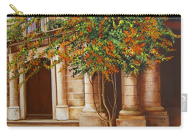 Cuban Painter Carry-all Pouch featuring the painting The House Of The Marquis Of Clear Water by Dominica Alcantara