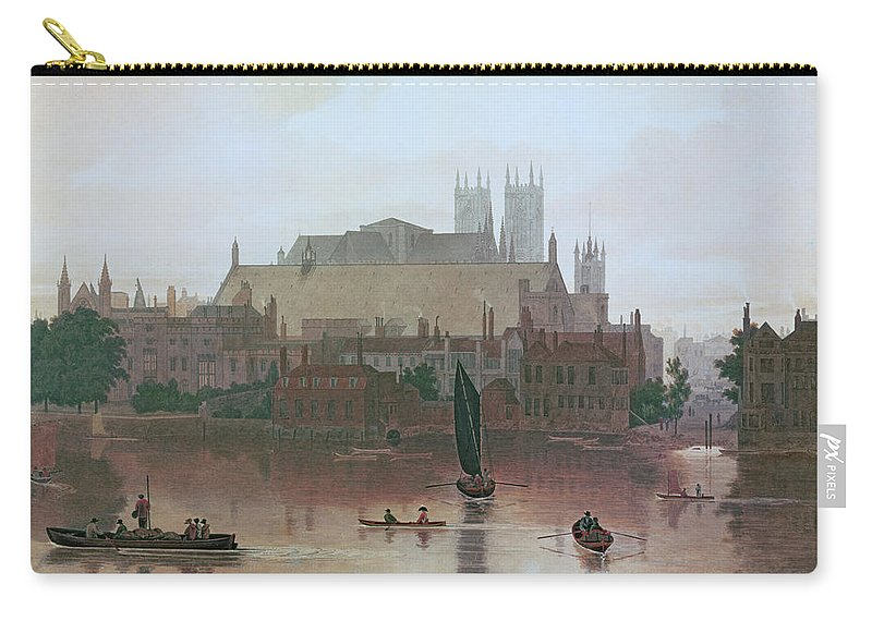 The Houses Of Parliament Carry-all Pouch featuring the painting The Houses Of Parliament by George Fennel Robson