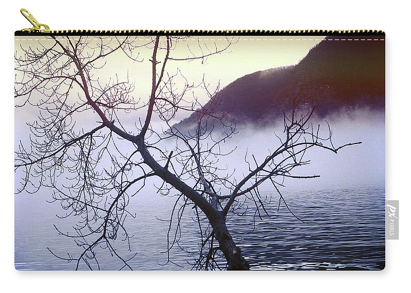 Hudson River Carry-all Pouch featuring the photograph The Hudson Highlands by Yuri Lev