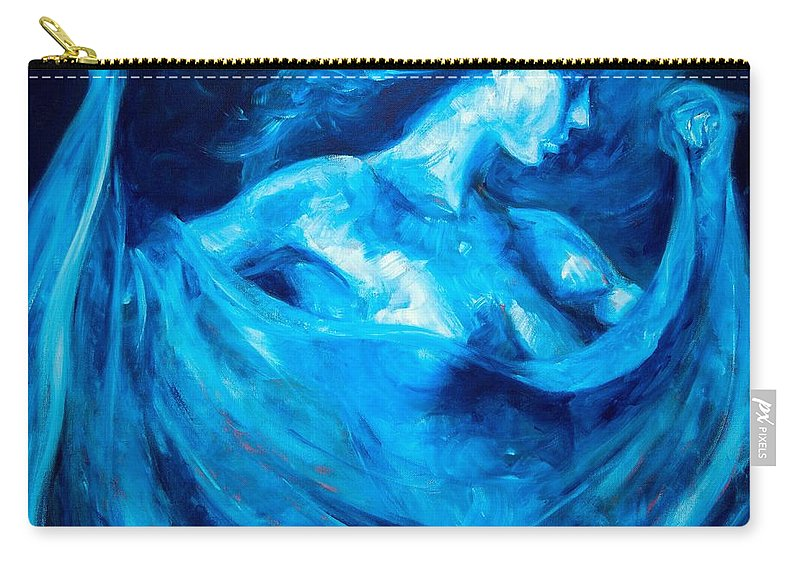 Nude Carry-all Pouch featuring the painting The Huntress by Jason Reinhardt