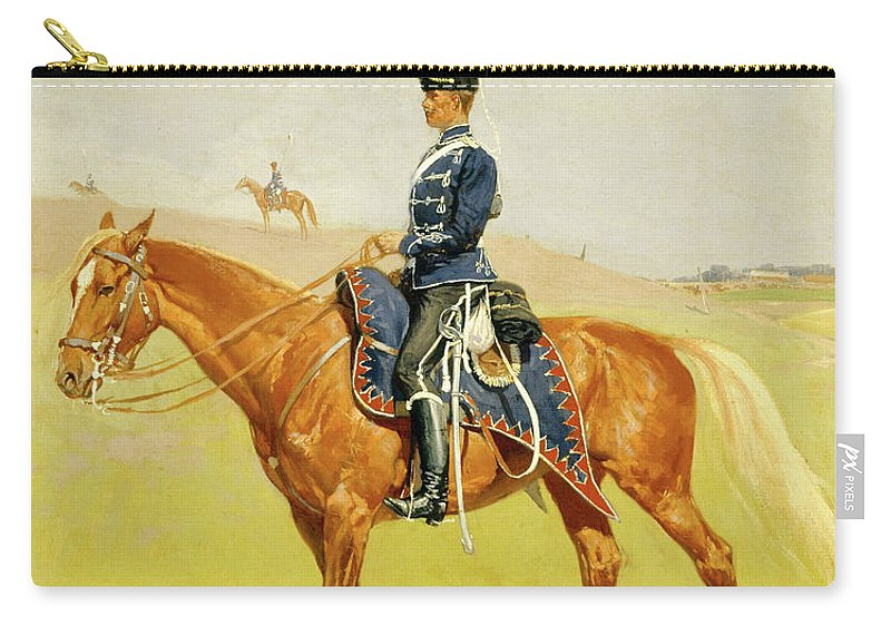 Hussar Carry-all Pouch featuring the painting The Hussar by Frederic Sackrider Remington