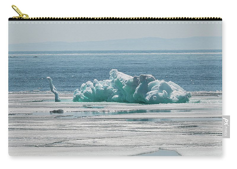 Silver Islet Carry-all Pouch featuring the photograph The Ice Elephant Of Silver Islet by Linda Ryma