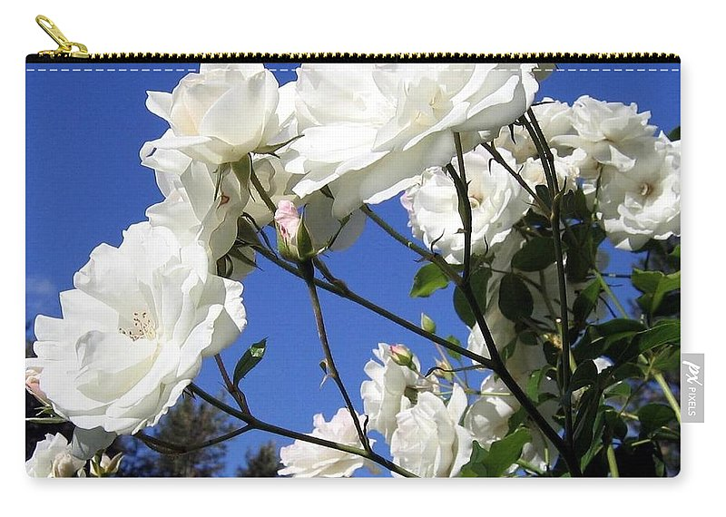 Roses Carry-all Pouch featuring the photograph The Iceberg Rose by Will Borden