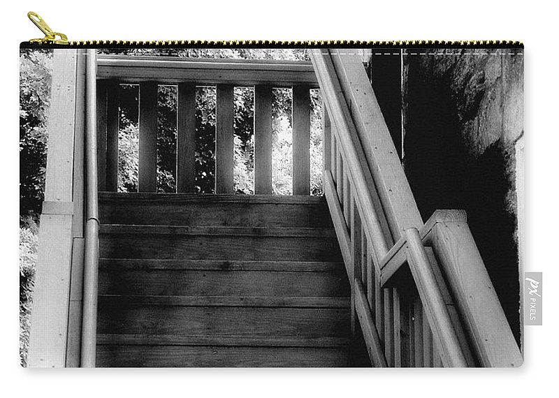 Black And White Carry-all Pouch featuring the photograph The Immigrant Traders by RC DeWinter