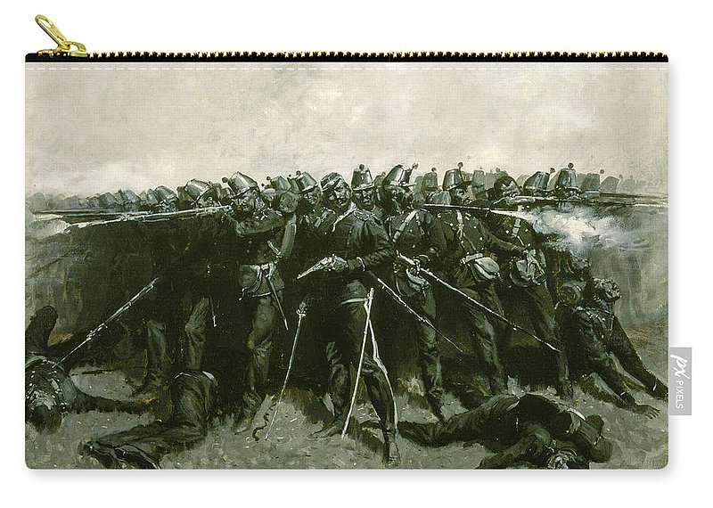 Infantry Carry-all Pouch featuring the painting The Infantry Square by Frederic Sackrider Remington