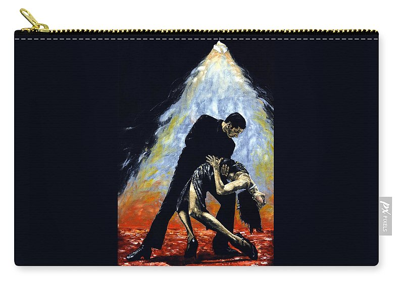 Tango Carry-all Pouch featuring the painting The Intoxication of Tango by Richard Young