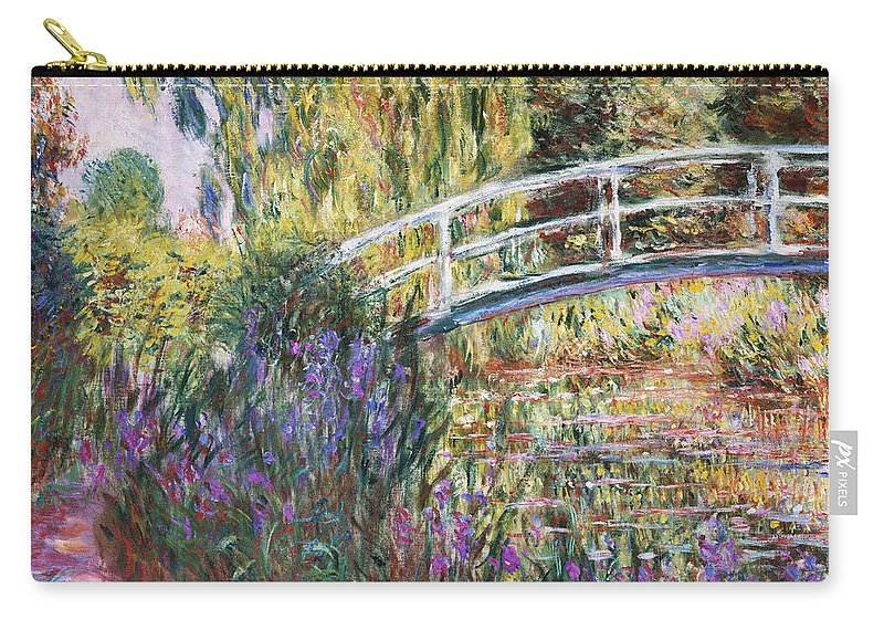 The Japanese Bridge Carry-all Pouch featuring the painting The Japanese Bridge by Claude Monet