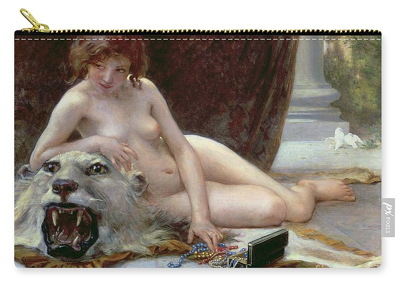 Nude Carry-all Pouch featuring the painting The Jewel Case by Guillaume Seignac