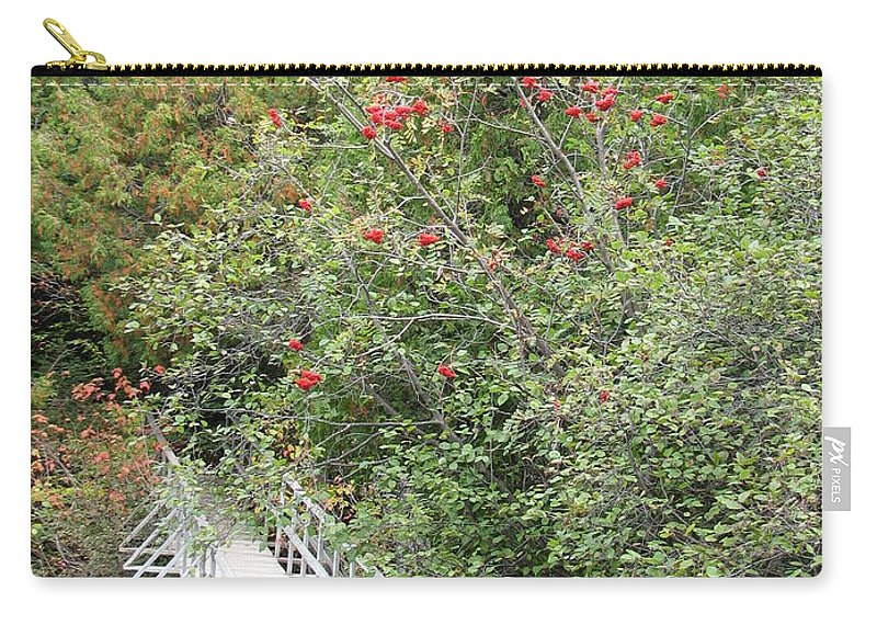 Bridge Carry-all Pouch featuring the photograph The Journey by Kelly Mezzapelle