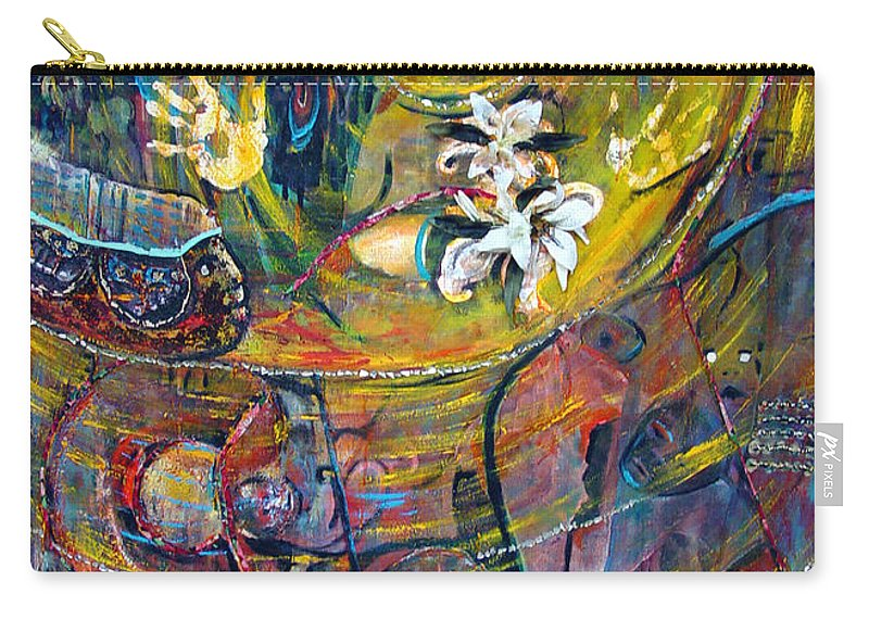 Figures Carry-all Pouch featuring the painting The Journey by Peggy Blood