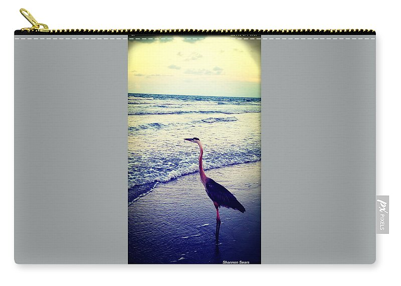 Shannon Carry-all Pouch featuring the photograph The Joy Of Ocean And Bird by Shannon Sears