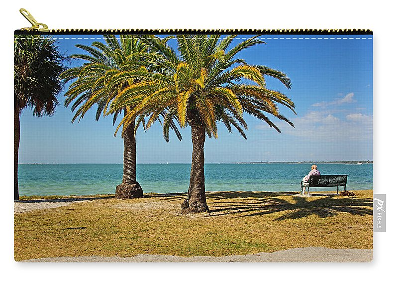 Sea Carry-all Pouch featuring the photograph The Joy Of Sea And Palms by Zal Latzkovich