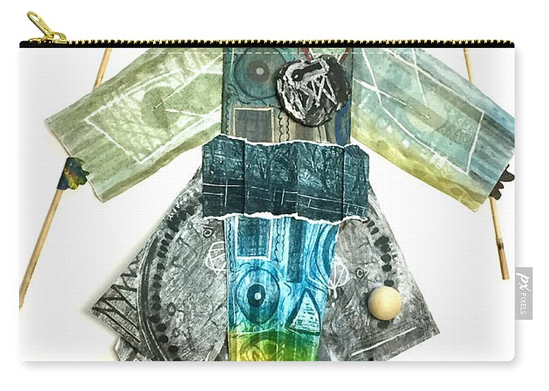 Carry-all Pouch featuring the mixed media The Juggler by Iris Posner