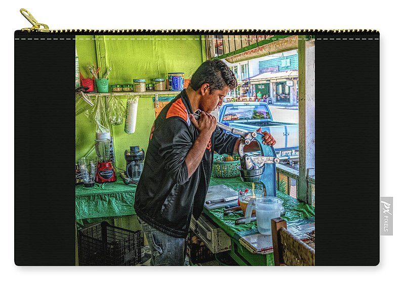 Jalisco Carry-all Pouch featuring the photograph The Juice Man by Paul LeSage