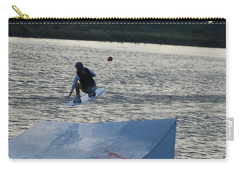 Water Carry-all Pouch featuring the photograph The Jump by Rob Hans