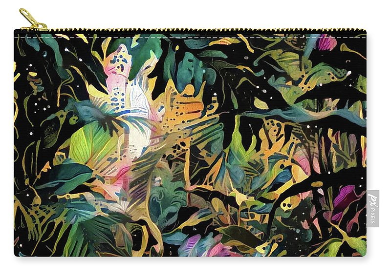 Colorful Carry-all Pouch featuring the digital art The Jungle by ArtMarket Japan