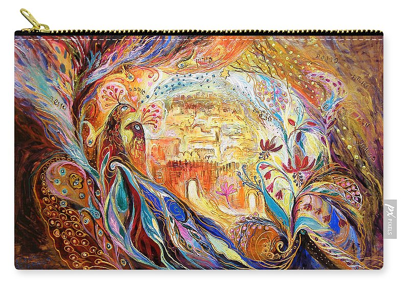 Original Carry-all Pouch featuring the painting The Keepers Of Old City by Elena Kotliarker